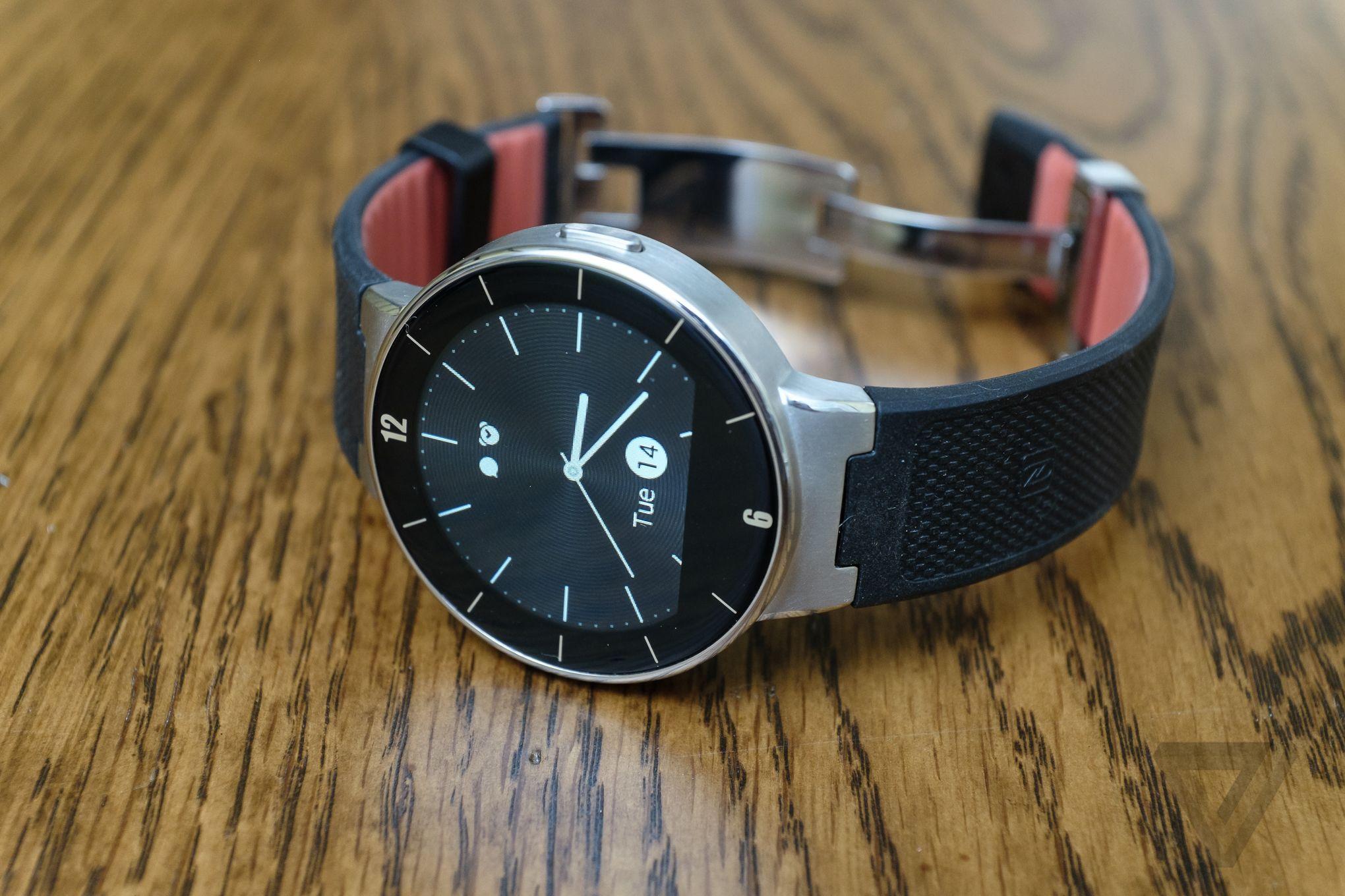 Умные часы - alcatel onetouch watch black large из германии.